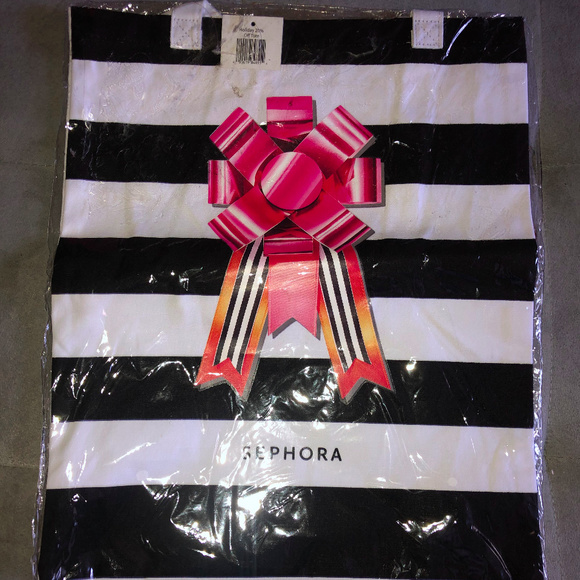 Sephora Handbags - Sephora Tote Bag Black & White Stripe new